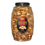 Utz Sourdough Nuggets Pretzels Barrel, 52 Ounce