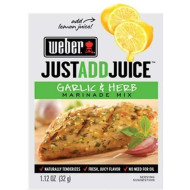 Weber Just Add Juice Marinade Mix, Garlic And Herb 1.12 Ounce (Pack Of 4)