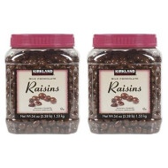 Kirkland Signature Milk Chocolate Raisins Covered In Milk Chocolate: 54 Oz (3.38Lb) - 2 Pack