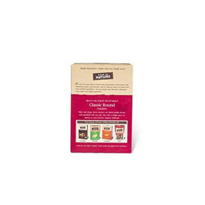 Back To Nature Crackers, Classic Round, 8.5 Ounce