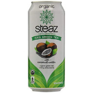 Steaz Organic Iced Green Tea, Cocount Water, 16 Ounce (Pack Of 12)