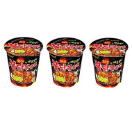 Spicy Chicken Roasted Cup Noodles (X 3 Cups), Spicy Chicken Cup Ramyun Korean Noodle Ramen Buldak Bokkeum Myun