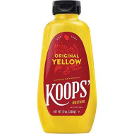 Koops Mustard Original Yellow, 12 Ounce (Pack of 12)