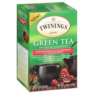 Twinings Green, Pomegranate, Raspberry, and Strawberry Bagged Tea, 40 Count