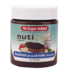Nutilight No Sugar Added Hazelnut Spread And Milk Chocolate 11 Ounces