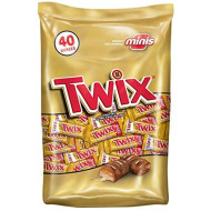 Twix Caramel Minis Size Chocolate Cookie Bar Candy 40-Ounce Bag