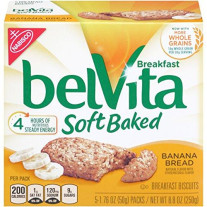 Belvita Soft Baked Breakfast Biscuits, Banana Bread, 1.76 Ounce, 5 Cou..