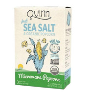 Quinn Snacks Microwave Popcorn - Made With Organic Non-Gmo Corn - Great Snack Food For Movie Night - Just Sea Salt, 7 Ounce