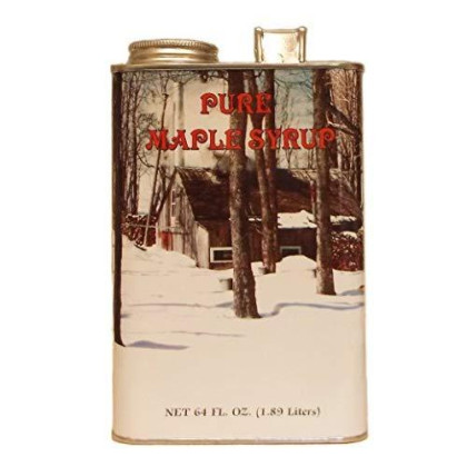 Ferguson Farms 100% Pure Vermont Maple Syrup, Grade B, Tin Half Gallon (64Oz)