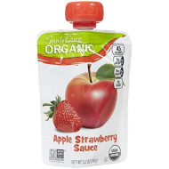 Santa Cruz Organic, Applesauce Strawberry Organic, 3.2 Ounce, 4 Pack