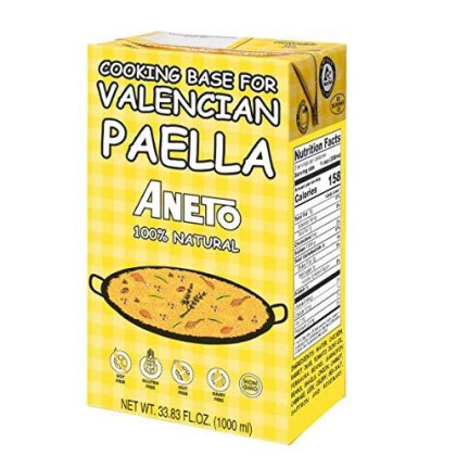 Aneto Valencian Paella Cooking Base Broth, 33.83 Fluid Ounce