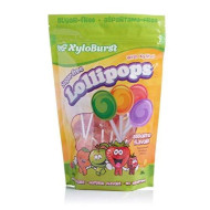 Xyloburst Lollipops Sugar-Free Made With Xylitol, Natural Colors And Natural Flavors 50 Count Assorted Bag
