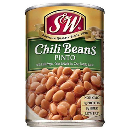 S&W, Chili Beans, 15Oz Can (Pack Of 6)