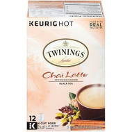 Twinings Of London Chai Latte K-Cups For Keurig, 12 Count
