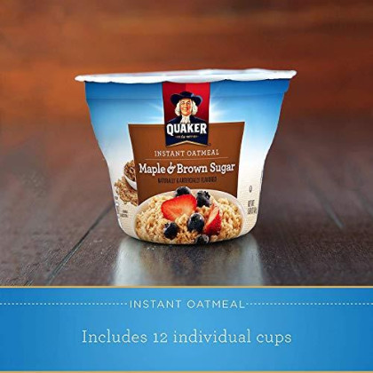 Quaker Instant Oatmeal,  Maple Brown Sugar 1.69Oz (Pack Of 3)