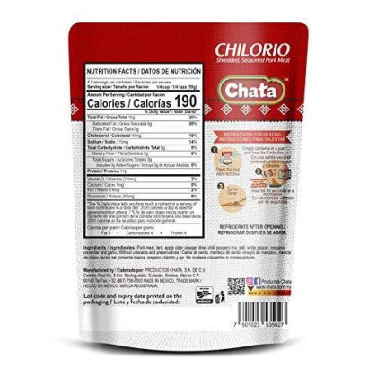 Chata Chilorio 8.8 oz (Pack of 6)