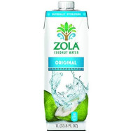 Zola Fruits Of The World Coconut Water, 33.8 Fluid Ounce -- 12 Per Case.