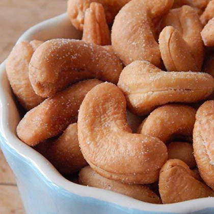 Dry Roasted Cashews Himalayan Salted - Small Batch - Oven Roasted - Without Oil (2 Lbs.) By Farm Fresh Nuts