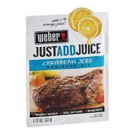 Weber Just Add Juice Marinade Mix Caribbean Jerk 1.12 Oz (Pack Of 24)