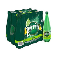 Perrier Sparkling Natural Mineral Water, Lime, 33.8-Ounce Plastic Bottles (Pack Of 12)
