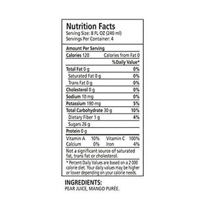 Ceres 100% All Natural Pure Fruit Juice Blend | Gluten Free | Rich In Vitamin C | No Sugar Or Preservatives Added, 33.8 Fl Oz, Mango (Pack Of 2)