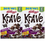 Kellogg'S Krave Krave Cereal - Double Chocolate - 11 Oz - 2 Pk