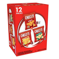 Cheez-It Baked Snack Cheese Crackers, Variety Pack, Original, White Cheddar, Cheddar Jack, 1.02 oz Bags(12 Count)