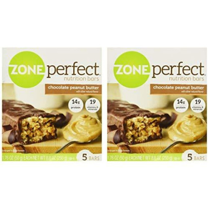 Zone Perfect Chocolate Peanut Butter 5 Bars - Pack Of 2- 8.8 0Z Each