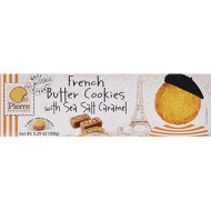 Pierre Biscuiterie French Butter Cookies With Sea Salt Caramel 5.29 Oz, Pack Of 3