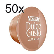 50 X Nescafe Dolce Gusto Cafe Au Lait - Coffee cpsuls - 50 cpsuls