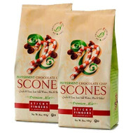 Sticky Fingers Scone Mix (Pack Of 2) 15 Ounce Bags - All Natural Scone Baking Mix (Peppermint Chocolate Chip)