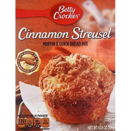 Betty Crocker Cinnamon Streusel Muffin Mix, 13.9 Oz