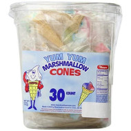 Yankee Traders Yum Yum Marshmallow Cones,30 Count, 5 Ounce