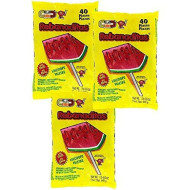 Spicy Mexican Candy Kit Including Vero Watermelon Rebanaditas Lollipops, 120 Pieces