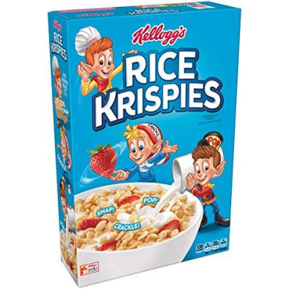 Kellogg'S Rice Krispies, Breakfast Cereal, Toasted Rice Cereal, Fat-Free, 12 Oz Box