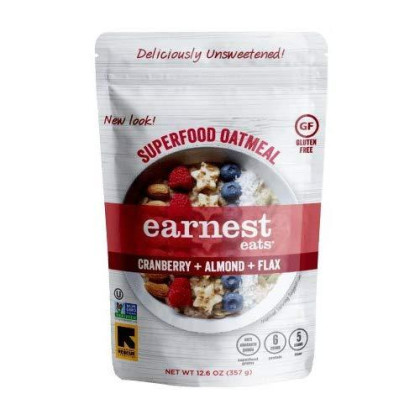Earnest Eats Gluten Free & Sugar Free Oatmeal With Superfood Grains, Quinoa, Oats And Amaranth - American Blend - (Case Of 6 - 12.6 Oz)