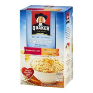 Quaker Instant Oatmeal Lower Sugar Strawberries & Cream / Peaches & Cream - 10 Ct