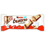Kinder Bueno White Chocolate Bars 40 G (Pack Of 30)