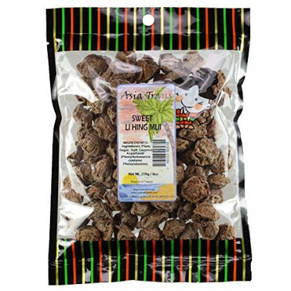 Sweet Li Hing Mui Dried Plums - 6.5 Ounce Bag - Packed Fresh In Hawaii - Perfect Addition To Lime, Lemon, Or Orange - Plenty Of Fruit Meat With Little Pit
