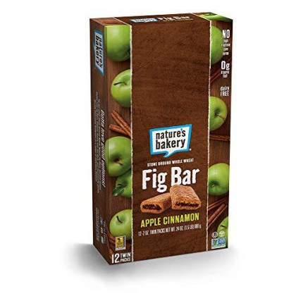 Nature'S Bakery Whole Wheat Fig Bar, Vegan + Non-Gmo, Apple Cinnamon (12 Count)
