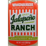 Whataburger Signature Sauce 14Oz-16Oz Squeeze Bottle (Pack Of 4) Select Flavor Below (Spicy Jalapeno Ranch - 14Oz)