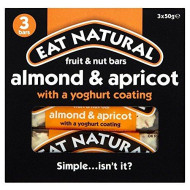 Eat Natural Yoghurt Coated Almond & Apricot Bars (3X50G)