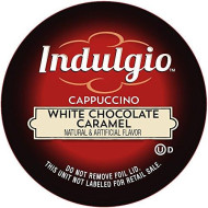 Indulgio Cappuccino, White Chocolate Caramel, 12-Count Single Serve Cup For Keurig K-Cup brevers