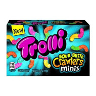 Trolli Sour Brite Crawlers Minis Gummy Candy, Assorted Flavors, 3.5 Oz
