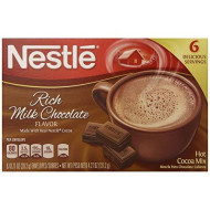 Nestle Hot Cocoa Rich Milk Chocolate Mix, 6 Envelopes, 4.27 Ounce (Pack Of 12)