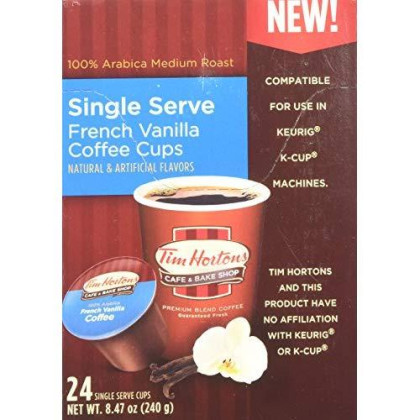 Tim Hortons French Vanilla Coffee 72 Count