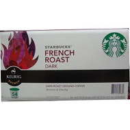Starbucks French Roast Dark, 54 K-Cup Dark Roast Ground Coffee, 22.86 Oz