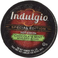 Indulgio Mint Chocolate Hot Cocoa 12-Count Single Serve Cup For Keurig K-Cup brevers