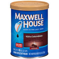 Maxwell House, 100% Colombian, Medium Dark, Ground Coffee, 10.5Oz Canister (Pack Of 3)