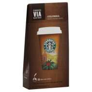 Starbucks Via Ready Brew Coffee Medium Colombia Instant 0.93 Fl Oz(Pack Of 6 Boxes Of 8=48 Packets)